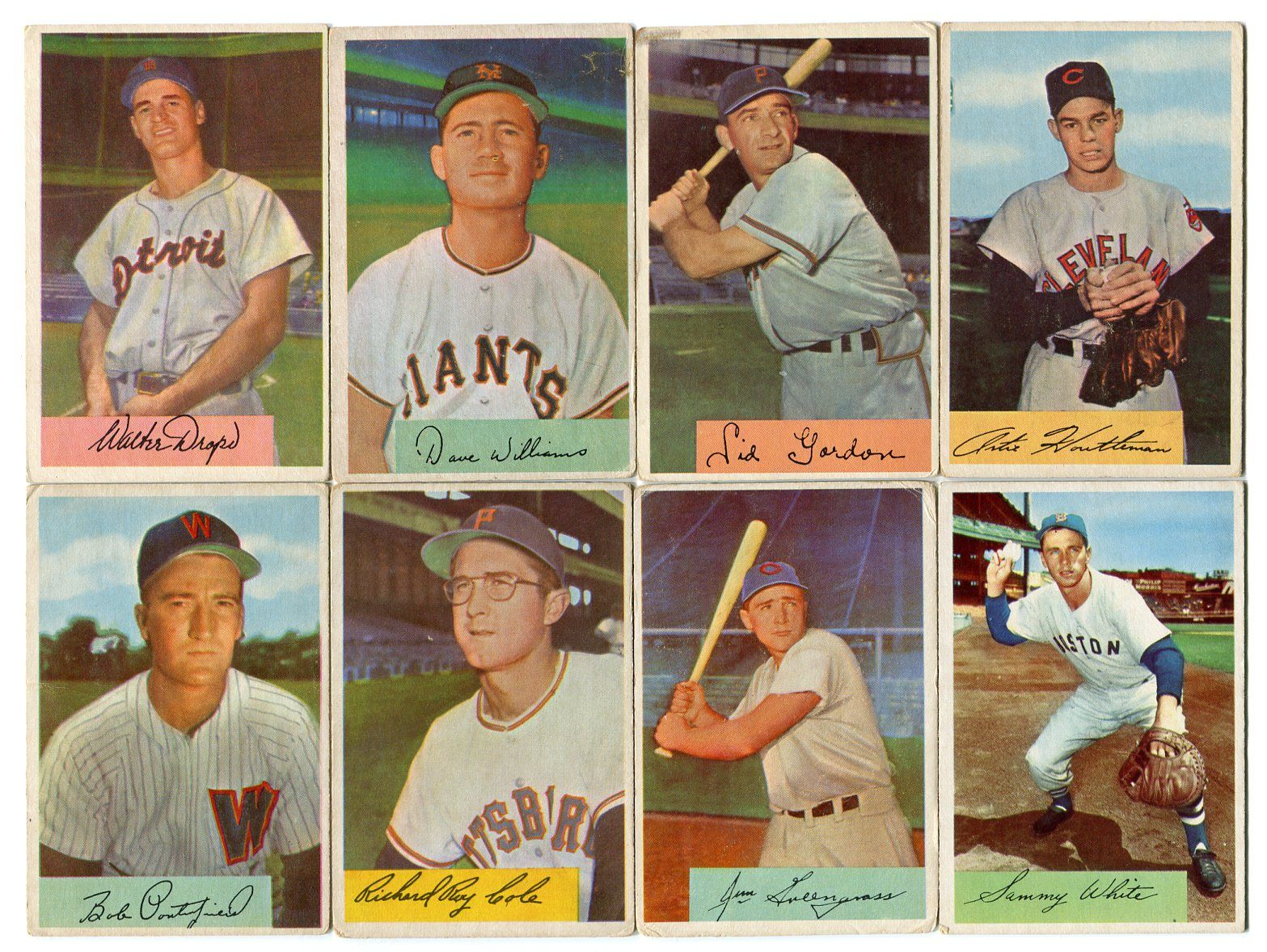 Lot Detail 1951 1952 1954 Bowman Baseball Card Lot Of 38 Cards