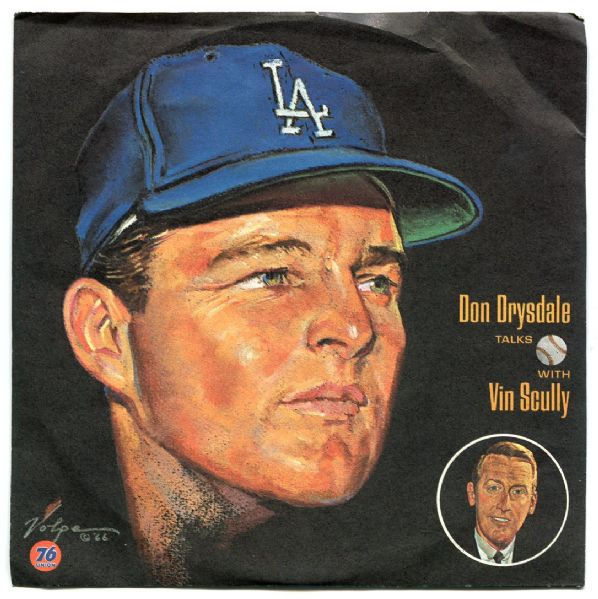 Complete Set of 12 1966 Vin Scully Volpe Los Angeles Dodger Interview Records