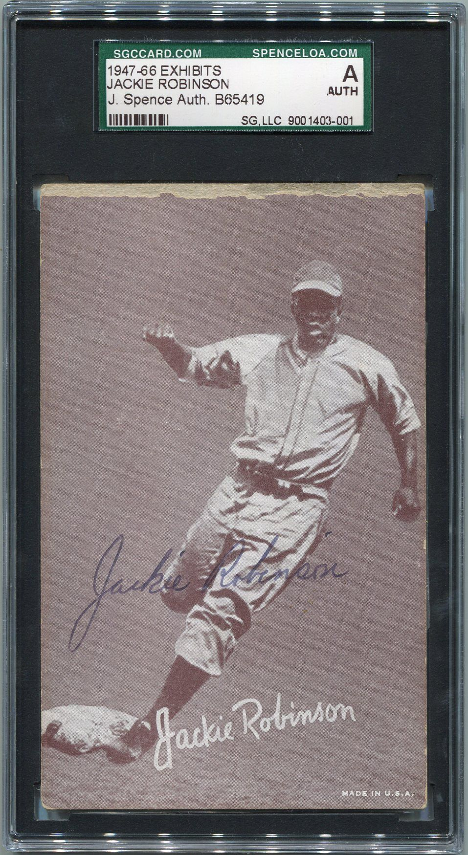 Lot Detail Jackie Robinson Signed Exhibit Card Jsa Authentic