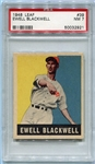 1948-49 Leaf #39 Ewell Blackwell Rookie Card PSA 7