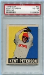 1948-49 Leaf #42B Kent Peterson Red Cap PSA 4