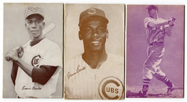 1947-66 Exhibits Ernie Bank & Bobby Doeer plus 1963 Stat Back Ernie Banks