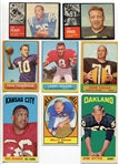 1962-1967 Topps Football Lot of 8 Different All HOFers