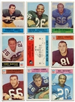 1964-66 Philadelphia Football Lot of 15 Different Mostly HOFers