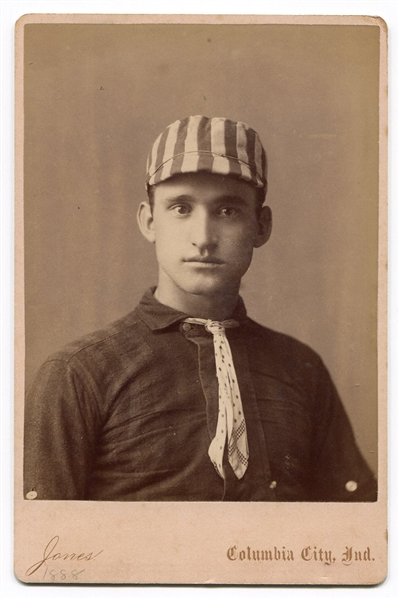 1888 Columbia City Indiana Baseball Catcher Harry Elliff Cabinet Card