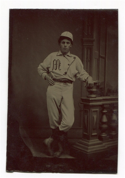Baseball Player in Uniform Tintype