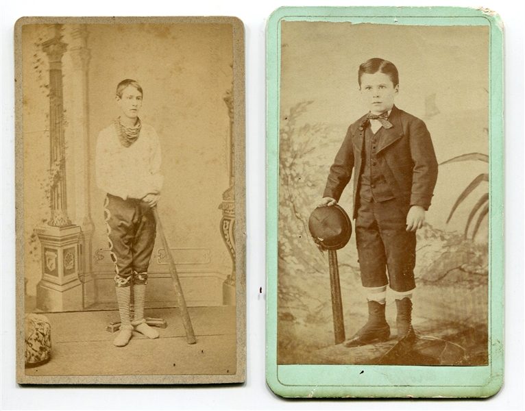 Circa 1870's Pair of Baseball CDV's