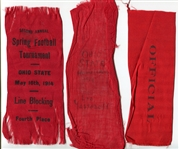 1914 Ohio State Ribbons from Leo Yassenoff Collection