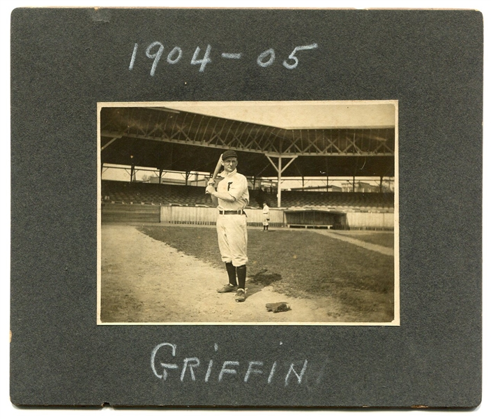 1904-05 Steve Griffin Baltimore Orioles Cabinet Photo