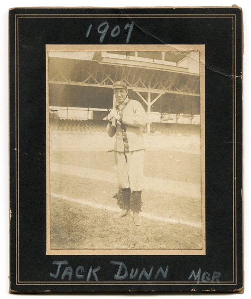1907 Jack Dunn Baltimore Orioles Manager Cabinet Photo