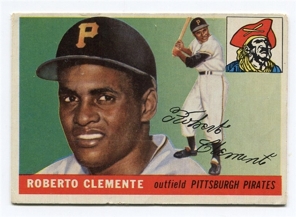 1955 Topps #164 Roberto Clemente Rookie VG