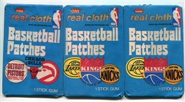1974 Fleer Basketball Patches 2 Unopened Wax Packs