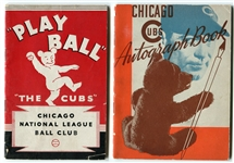 1934-1942 Chicago Cubs Team Issued Booklets