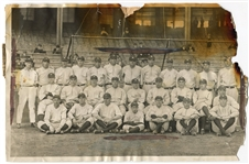 1923 La Presse Photo of the New York Yankees w/Newspaper Clipping