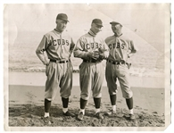 1922 Wire Photo Grover Cleveland Alexander, Bill Killifer and Elwood Martin
