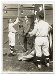 1917 Franklin D. Roosevelt & Clark Griffith Opening Day Flag Raising