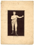 1889 Kimball & Co. Boxer Sam Blakelock Advertisment Piece