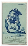 "1880s Baseball Theme ""Send em in!"" Victorian Trade Card"