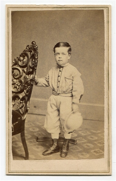 Circa 1870's CDV Young Boy In Baseball Attire