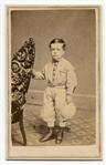 Circa 1870s CDV Young Boy In Baseball Attire