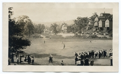 1910s Baseball Game in Action Photograph