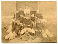 Circa 1880s Baseball Team Cabinet Photo