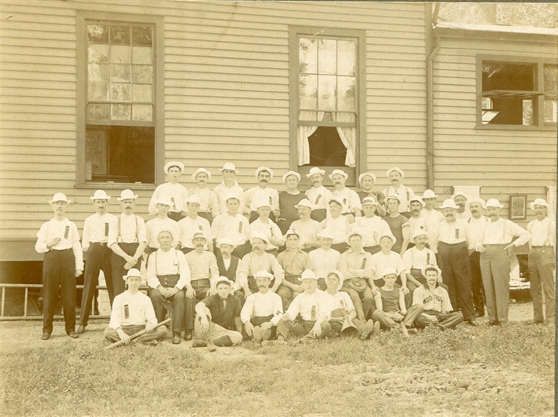 Circa 1880's Cabinet Photo of Baseball Players