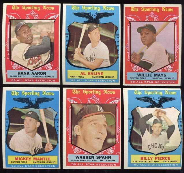1959 Topps Complete Set Nice Mid-Grade