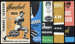 1953 - 1978 Lot of 22 Different Louisville Slugger Famous Slugger Yearbooks