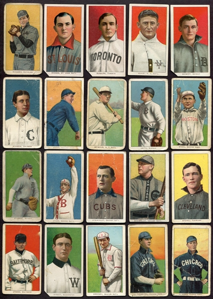 T206 Lot of 108 Different With HOFers