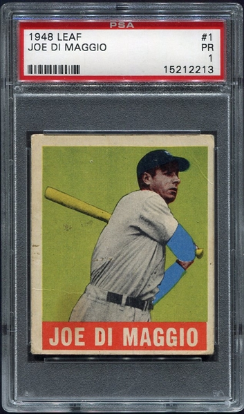 1948 Leaf #1 Joe DiMaggio PSA 1 One of Nicest 1's You Will See!!