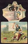 N173 Old Judge Metamorphic Trade Card Ad Piece