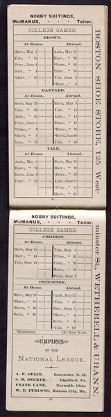 1883 Perfected Guide of the National League, American Association and College Base Ball Games
