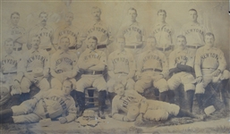 1894 New York Giants Temple Cup Winners Mammoth Plate Cabinet Photo