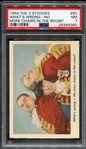 1959 Fleer The 3 Stooges #90 Whats Wrong-No More Chairs In The Room? PSA 7