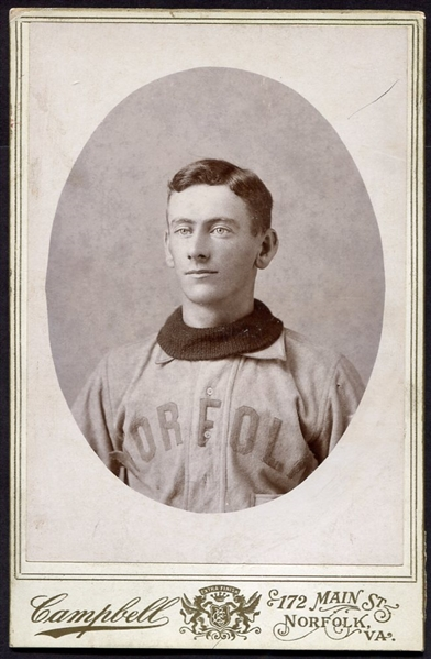 1890's Norfolk Baseball Player Cabinet Photo