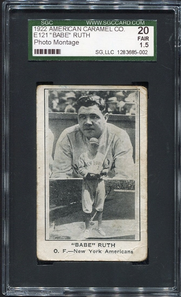 E121 Babe Ruth Photo Montage SGC 20