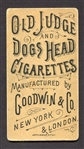 N166 Occupations for Women Old Judge and Dogs Head Cigarettes Card