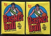 1978 Topps Basketball Unopened Wax Pack Lot of 2