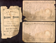 1891 Staunton Virginia Base Ball Team Score Book