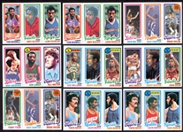 1980-81 Topps Basketball Lot of 44 Mostly Different Nrmt to Nrmt/Mt