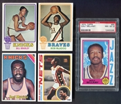 1970s Topps Basketball Lot of 5 Different HOFers/Rookie Cards