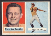 1957 Topps Football #22 Norm Van Brocklin Los Angeles Rams Nrmt