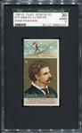 N76 1888 W. Duke Great Americans Samuel Clemens SGC 30 Looks Nicer!