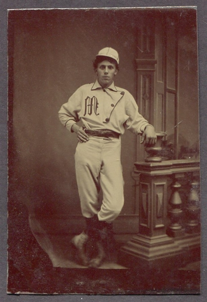 Circa 1870's Tintype of Baseball Player in Uniform