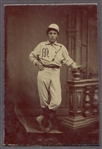 Circa 1870s Tintype of Baseball Player in Uniform