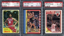 Lot of 3 Basketball HOFers All PSA 8