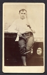 Circa 1870s CDV of Baseball Player in Uniform With Bat