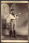 19th Century Baseball Player Cabinet Photo of Fredrick William Ricker
