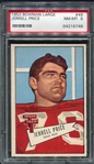 1952 Large Bowman #49 Jerrell Price PSA 8